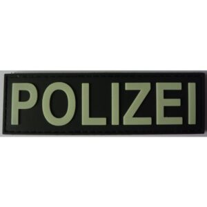 POLIZEI Rubber Patch Glow in the Dark