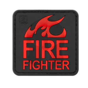 JTG Fire Fighter Rubber Patch Blackmedic