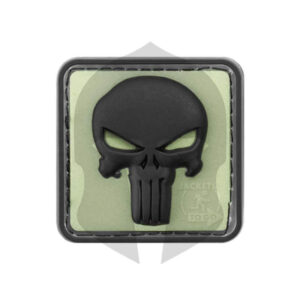 JTG Punisher Rubber Patch Glow back