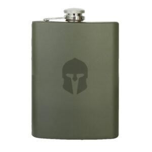Mil-Tec Taschenflasche Edelstahl oliv 230 ml