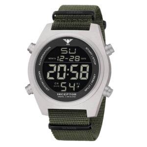 KHS Uhr Inceptor Steel Digital Natoband oliv