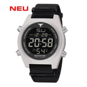 KHS Uhr Inceptor Steel Digital Natoband schwarz