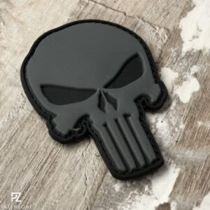 PZ Punisher Rubber Patch schwarz-grau